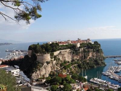 The Rock of Monaco, with Monaco-ville on top.
