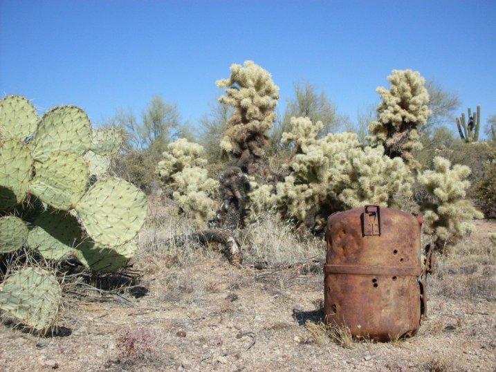 Alien artifact? Nope. Just old desert junk.