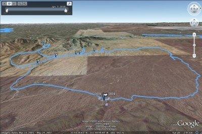 Pemberton GPS track