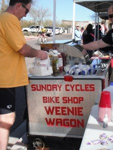 McDowell Sonoran Challenge, Sunday Cycles, hot dogs, Weenie Wagon