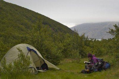 Skaftafell, camp, Iceland
