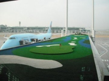 incheon korean airlines 747 golf course
