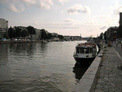 Strolling along the Aura River in Turku, Finland.