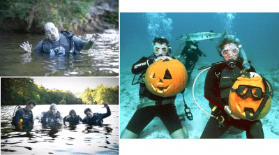 Halloween-themed SCUBA
