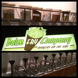 Boise Fry Company's seasoning bar!