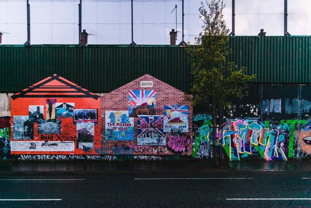 graffiti wall belfast peace