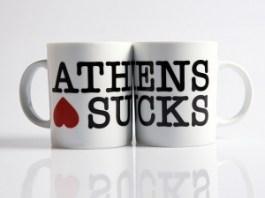 Athens Sucks mugs
