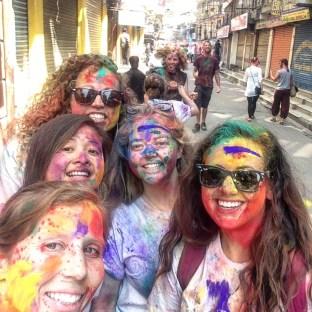 Celebrating Holi in Kathmandu