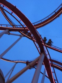 The Dæmon rollercoaster thrills and terrifies its riders.
