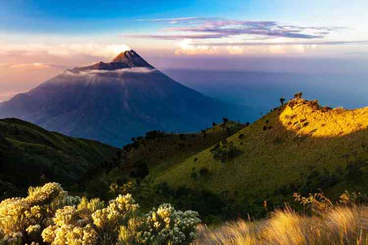 Wild camping in Indonesia