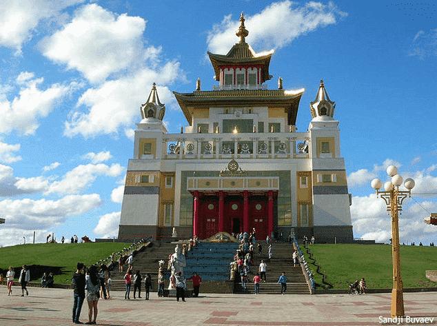 The Golden Temple in Elista
