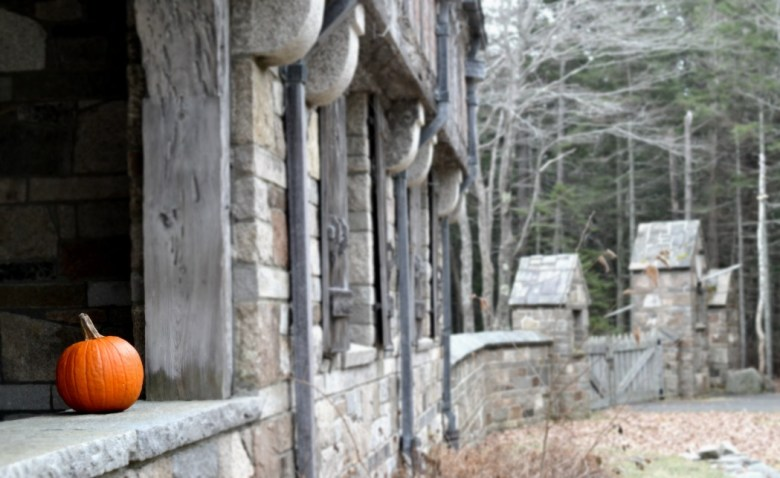 Acadia Gate House in Fall