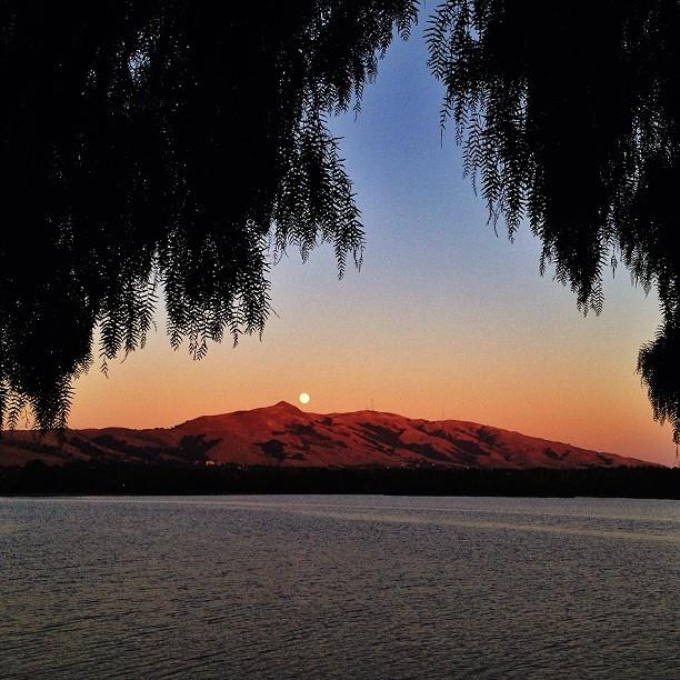 Moonrise at Lake Elizabeth