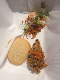 Hot Box (Chef's Choice and People's Choice Winner) - Sweet Potato Maki and Sweet Yam Latke w/ Lemon Sugar Cookie
