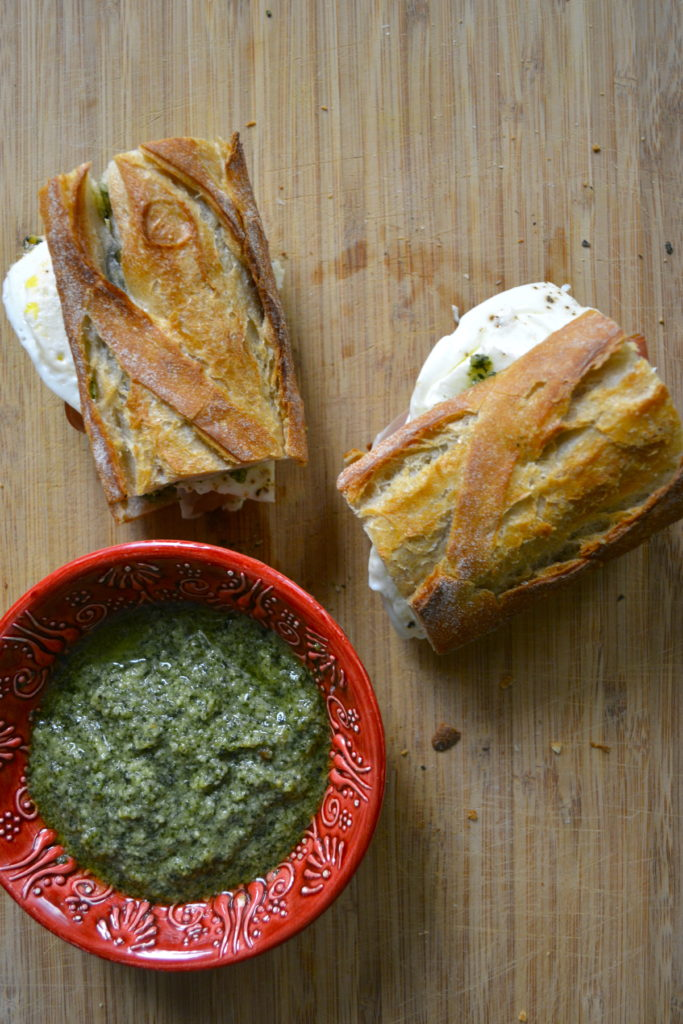 Pesto Mozzarella Breakfast Sandwich
