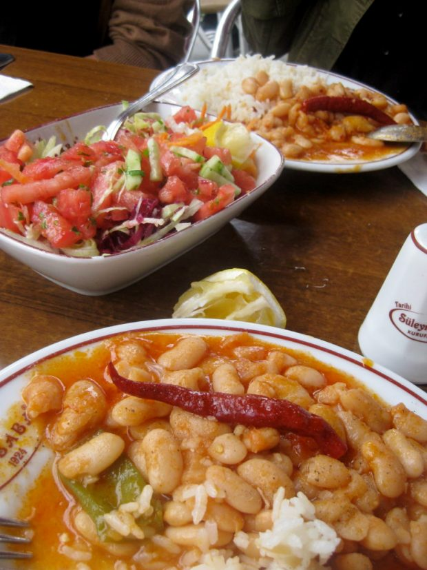 Smoky Turkish Cannellini Beans - lunch in Istanbul, Turkey