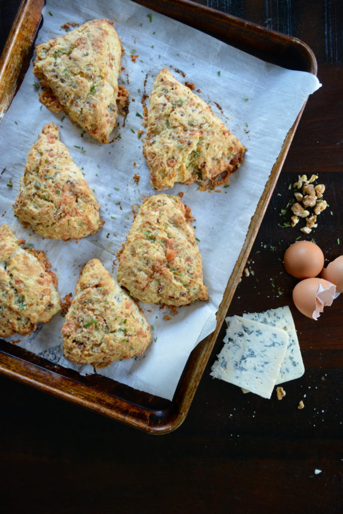 Rosemary and Blue Cheese Scones with Pancetta and Walnuts