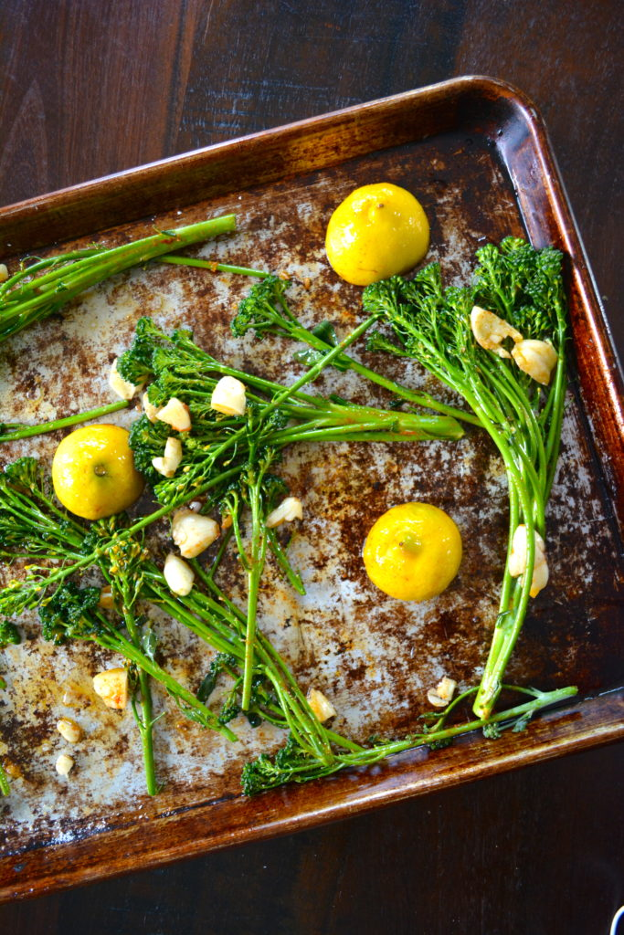 Lemon & Garlic Roasted Broccolini