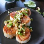Vietnamese Style Scallops with Peanuts and Green Onion