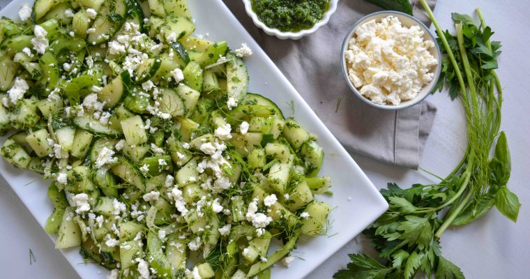 Honeydew Salad with Spicy Herb Dressing