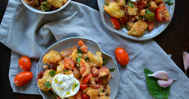 Rustic Italian Panzanella Salad