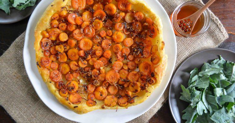 Savory Carrot Tarte Tatin