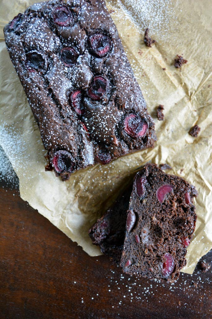Dark Chocolate Cherry Banana Bread