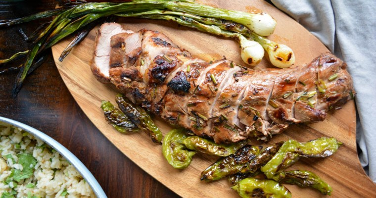 Grilled Pork Tenderloin with Honey Sesame Glaze