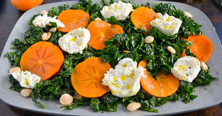 Kale & Persimmon Salad