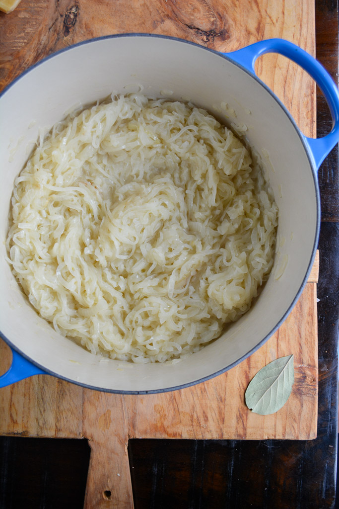 Caramelizing onions for Classic French Onion Soup