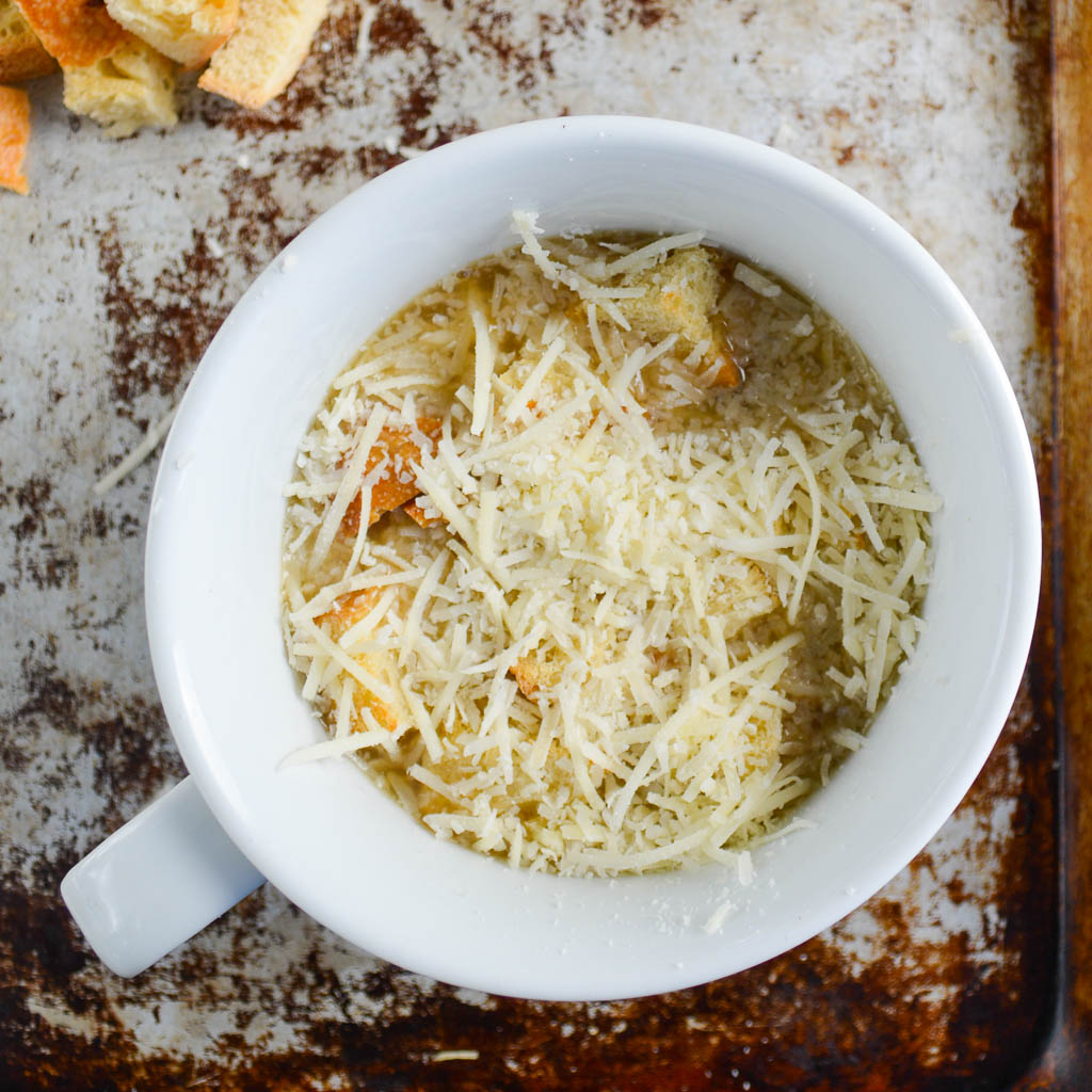 How to Assemble Classic French Onion Soup