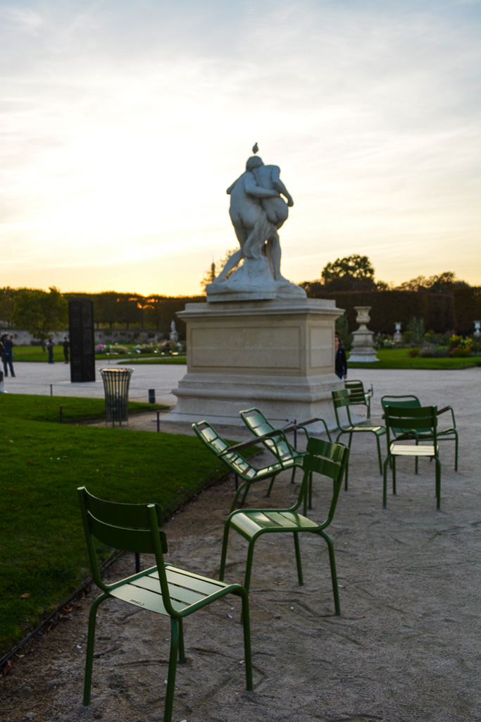 Comprehensive Guide to Paris:  Park chairs in the Tuilerie Gardens