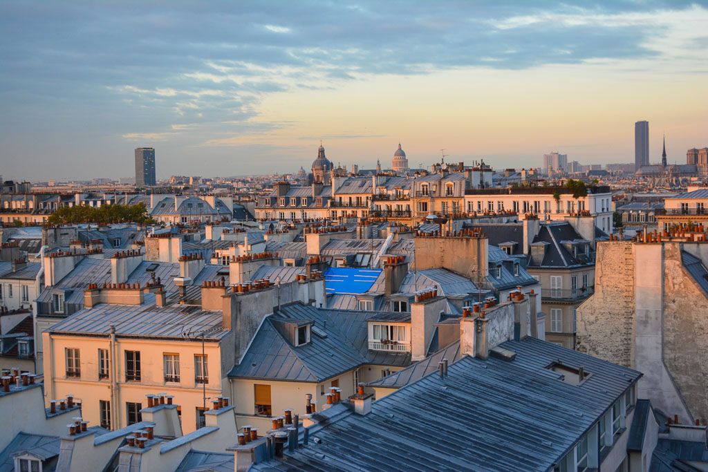 Les Toits de Paris:  the rooftops of Paris during sunrise