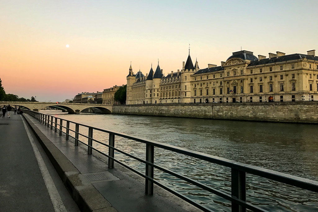 Comprehensive Guide to Paris:  The Seine at Sunset