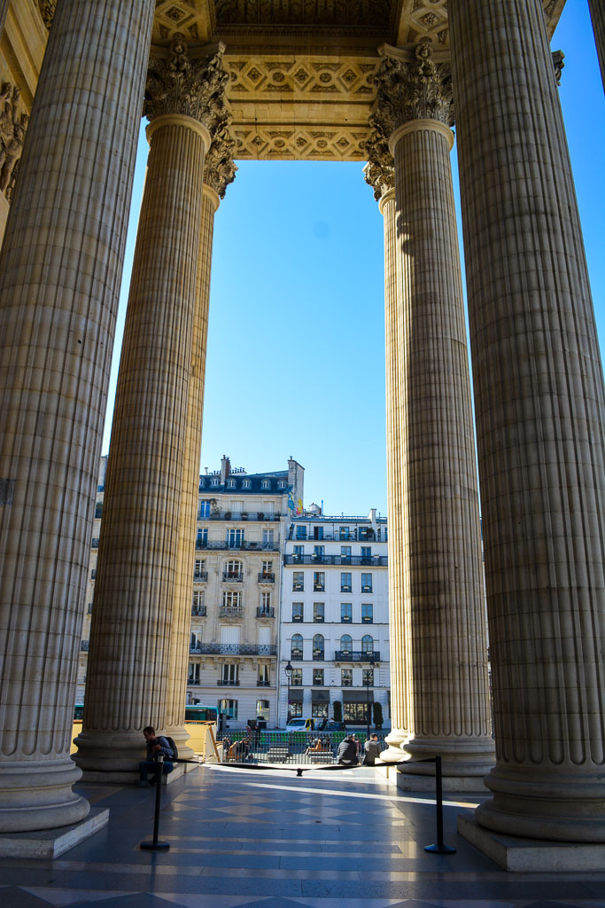 Comprehensive Guide to Paris:  On the steps of the Parthenon
