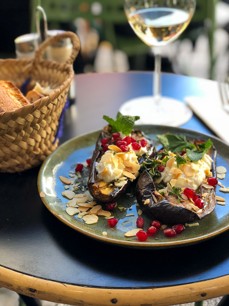 Comprehensive Guide to Paris:  Stuffed Aubergines at a Cafe