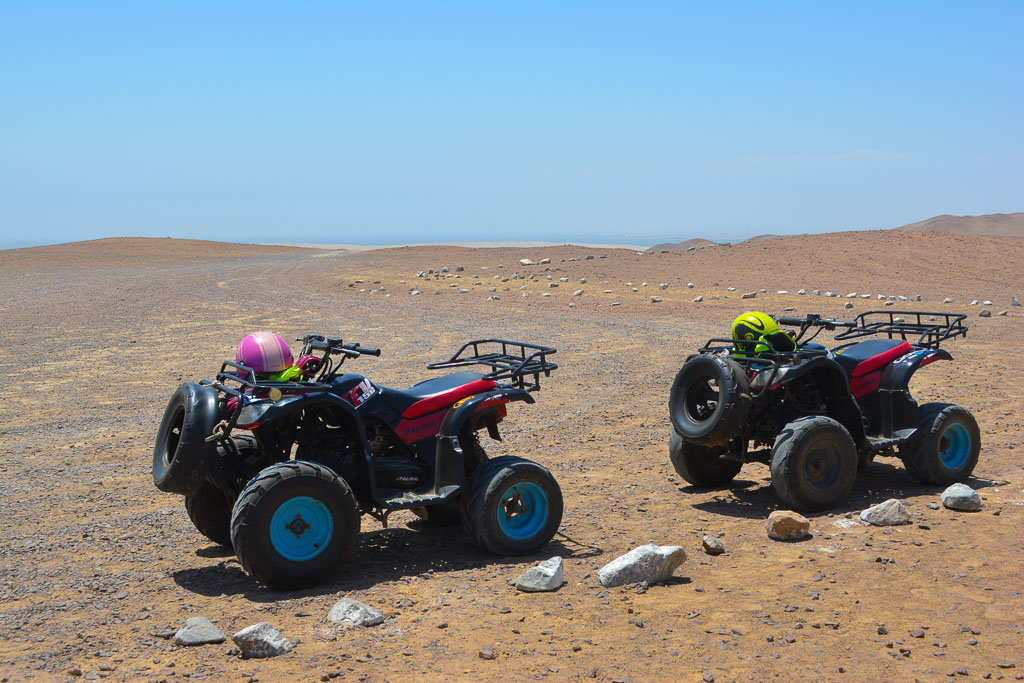 ATVs in Paracas National Reserve