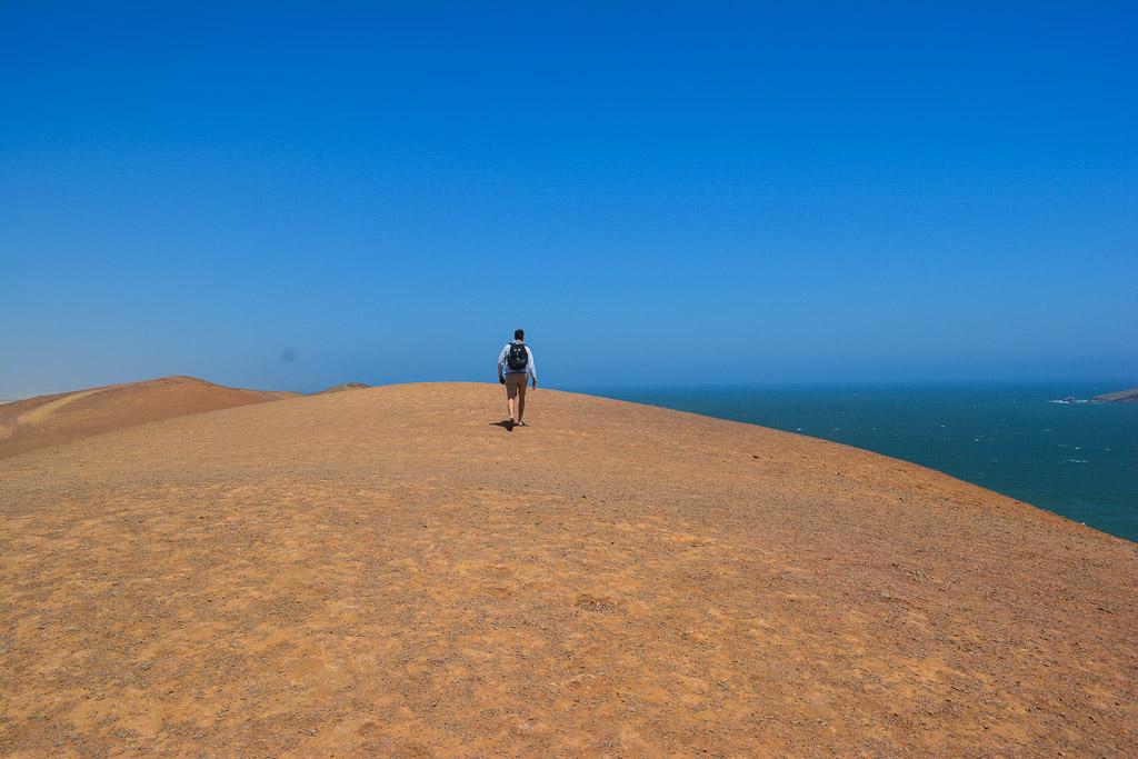 Cliffs meeting the Ocean in Paracas National Reserve