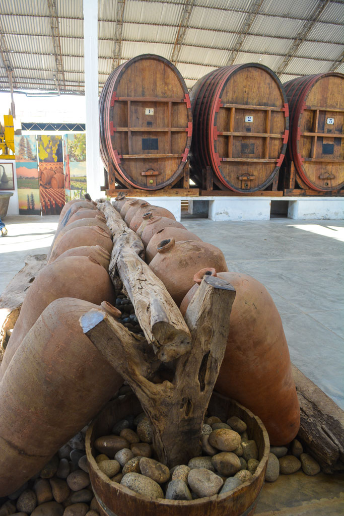Touring the Tacama winery in Ica, Peru