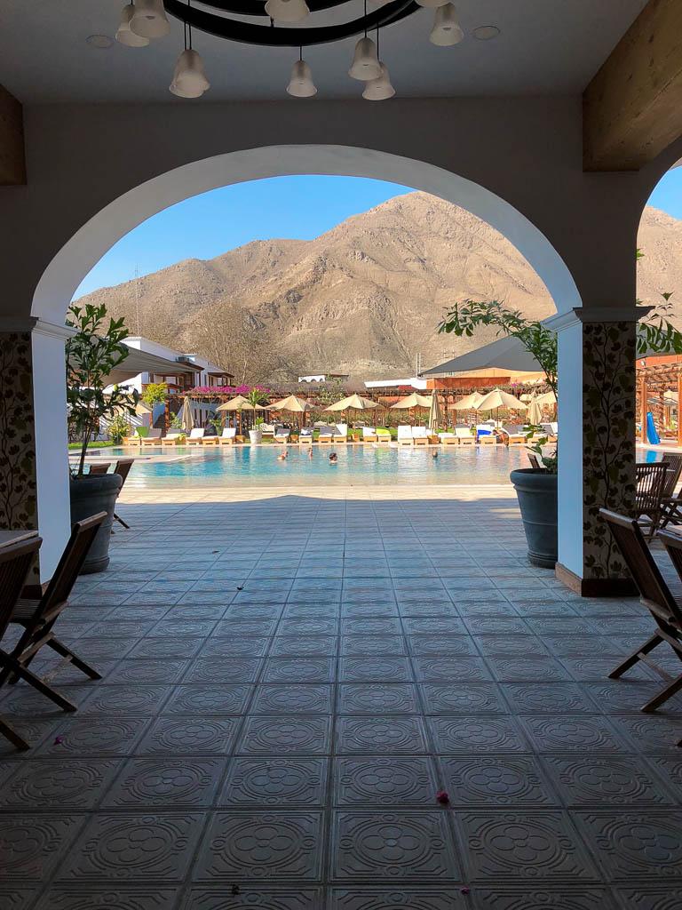 Poolside at Hotel Vinas Queirolos in Ica, Peru