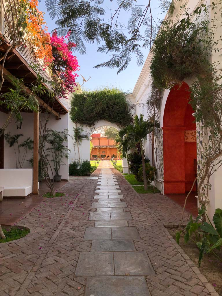 Passageway on the grounds of Hotel Vinas Quierolos