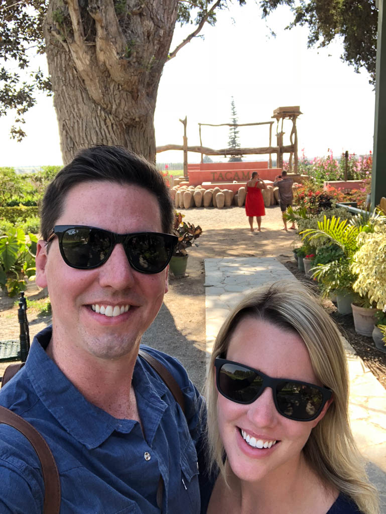 Wine tasting at Tacama Winery