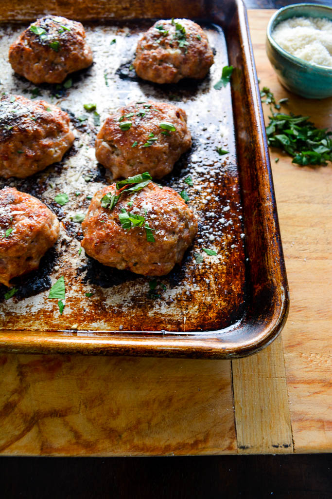 Southern Italian Stuffed Meatballs with Smoked Mozzarella and Spicy Salami