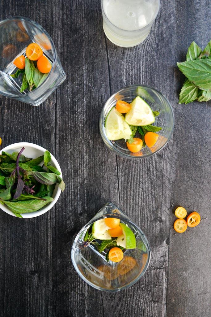 Kumquats, Thai Basil, and Limes