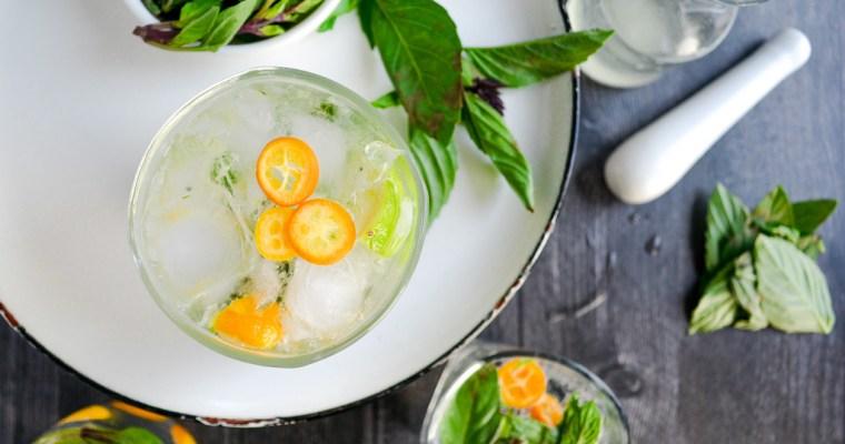 Thai Basil & Kumquat Mojitos