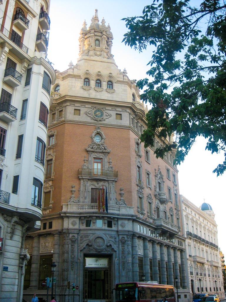 City streets of Valencia, Spain