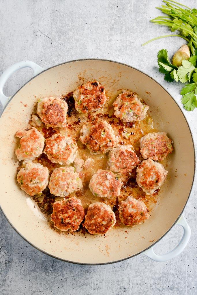 Lemongrass and Ginger Pork meatballs