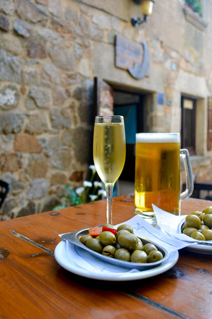 Olives & Cava in Costa Brava, Spain