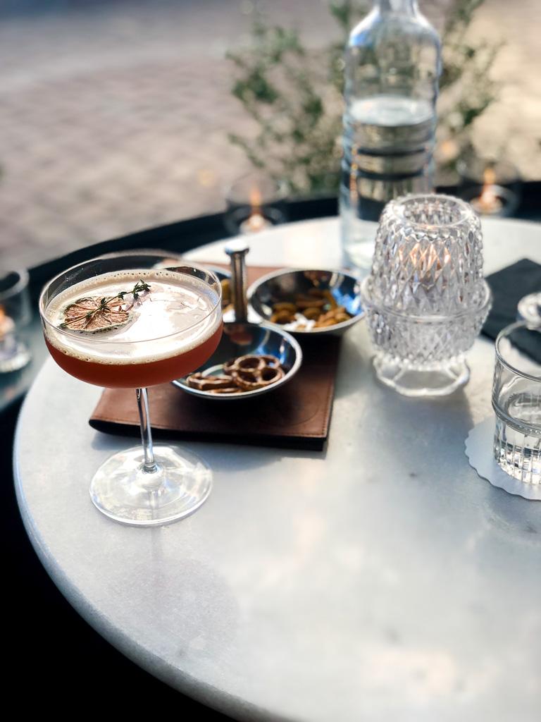 Bloodline cocktail at Artillery Bar in Savannah, Georgia