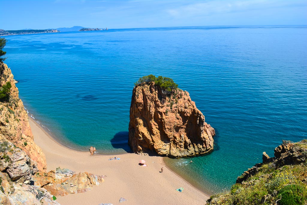 Playa Illa Roja near Begur in the Costa Brava